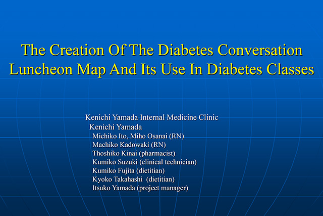 The Creation Of The Diabetes Conversation Luncheon Map And Its Use In Diabetes Classes